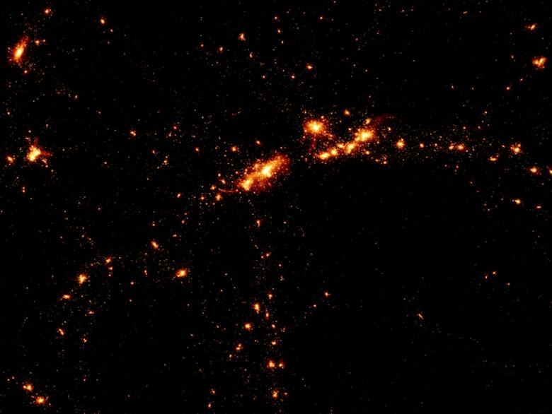 Распределение галактик в моделировании EAGLE (изображение: icc.dur.ac.uk).