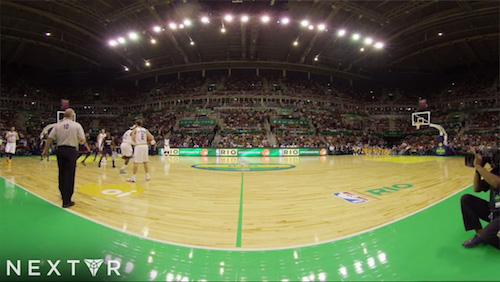 Первая игра нового сезона NBA транслировалась в формате виртуальной реальности для Android.