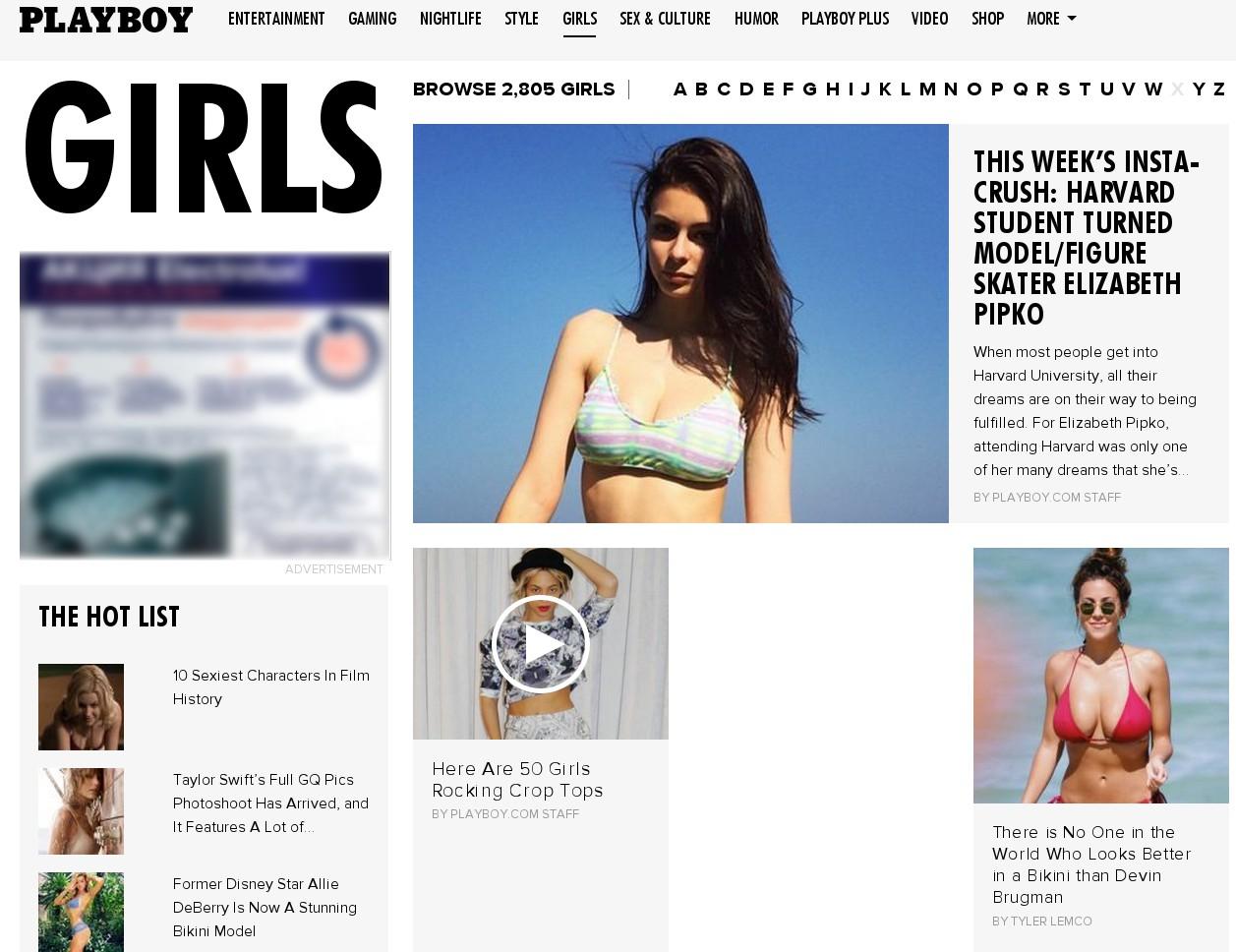 На сайте Playboy даже в разделе Girls обнажённой натуры нет уже сейчас.