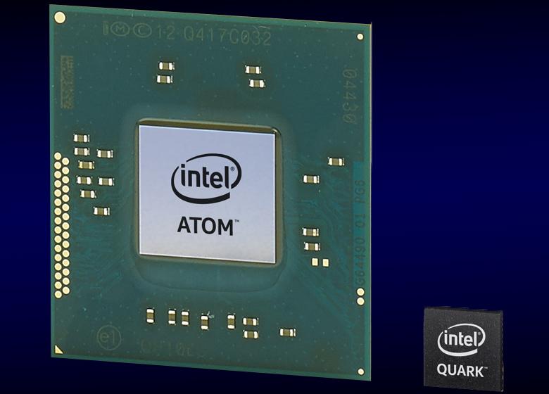 Сравнение размеров Intel Quark и Intel Atom.