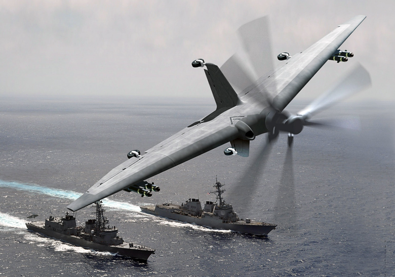 Прототип БПЛА TERN (изображение: darpa.mil).