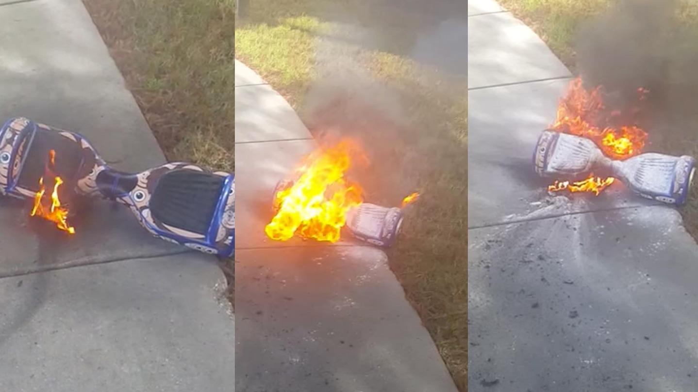 Ховерборды горят жарко, упрямо, долго, с выделением большого количества едкого дыма. Как, впрочем, и любое устройство с мощным литий-ионным аккумулятором.