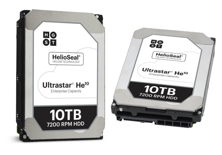 Жёсткий диск HGST Ultrastar He10 (изображение: hgst.com).