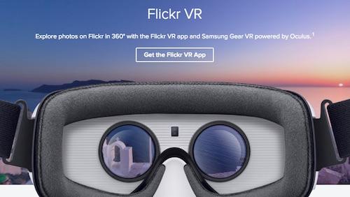 Фотохостинг Flickr открыл раздел Flickr VR и представил приложение для очков виртуальной реальности Samsung Gear VR.
