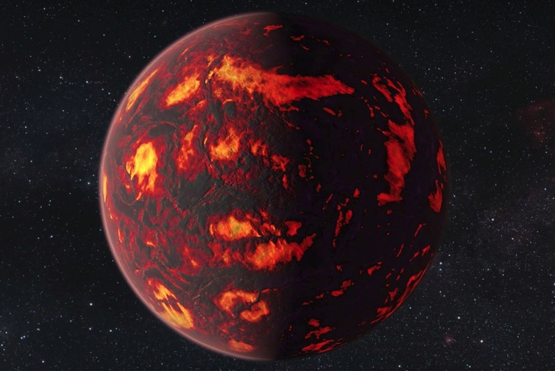 Экзопланета 55 Cancri e в представлении художника (изображение: NASA/ESA Hubble Space Telescope).