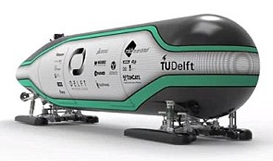 Дизайн капсулы для гиперпетли (изображение: Делфтский университет).