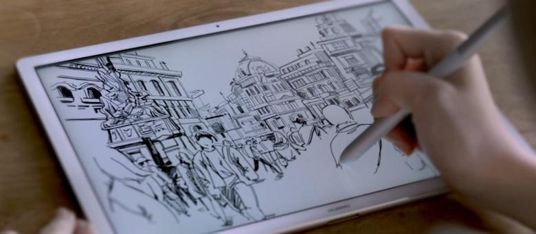 Создание скетча на Huawei MateBook (изображение: Huawei).