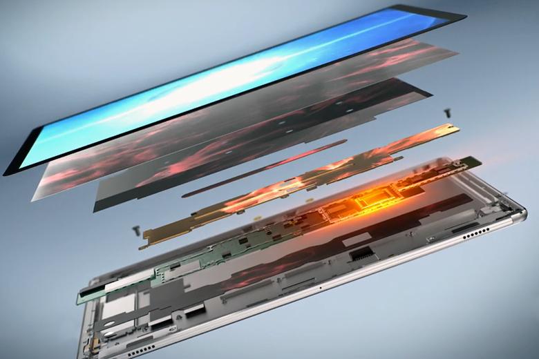 Восьмислойная компоновка Huawei MateBook (изображение: Huawei).