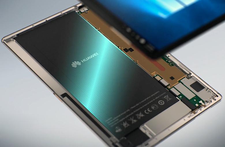 Плоская батарея в Huawei MateBook (изображение: Huawei).