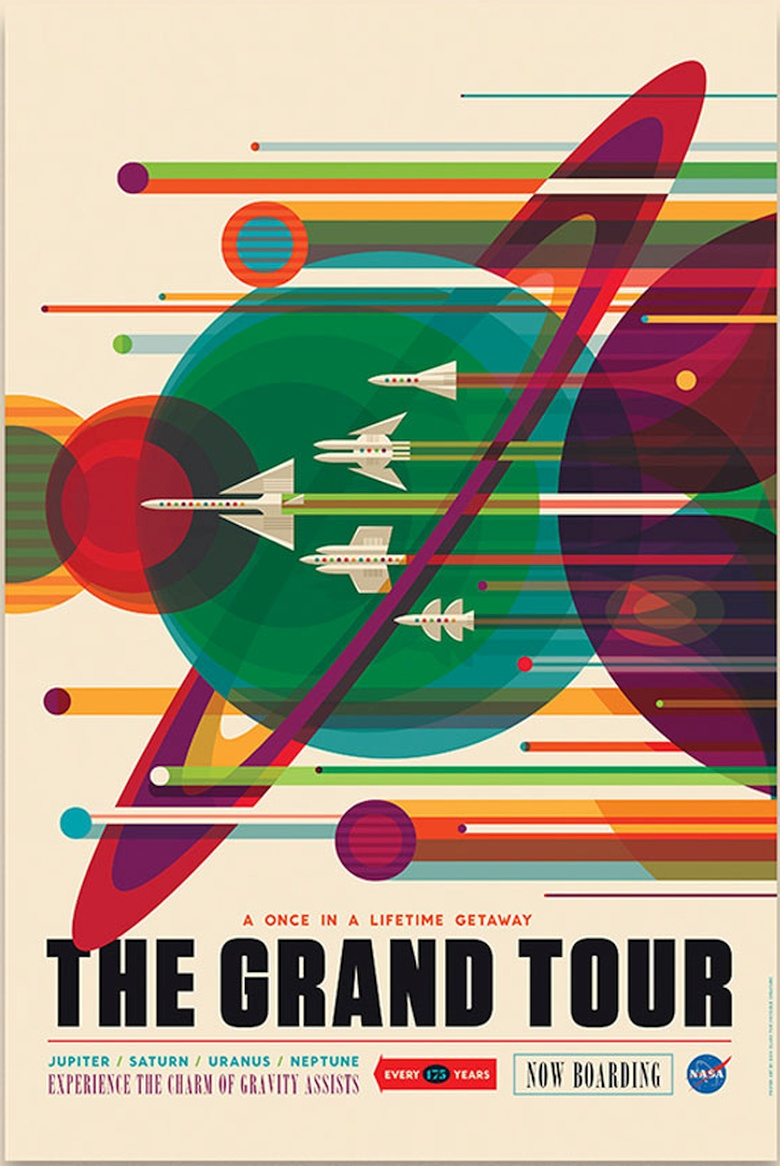 Гравитационные манёвры на космолётах NASA (постер: Invisible Creature).