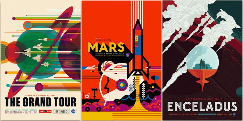 Космический туризм глазами NASA (дизайн: Invisible Creature).