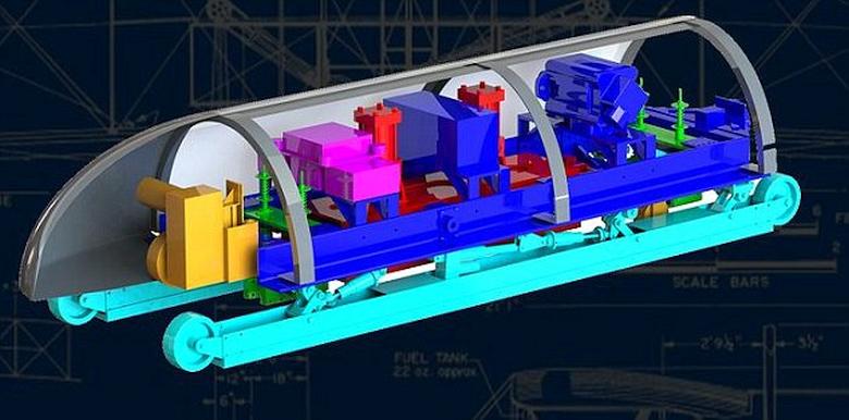 Концепт капсулы (изображение: MIT Hyperloop team).