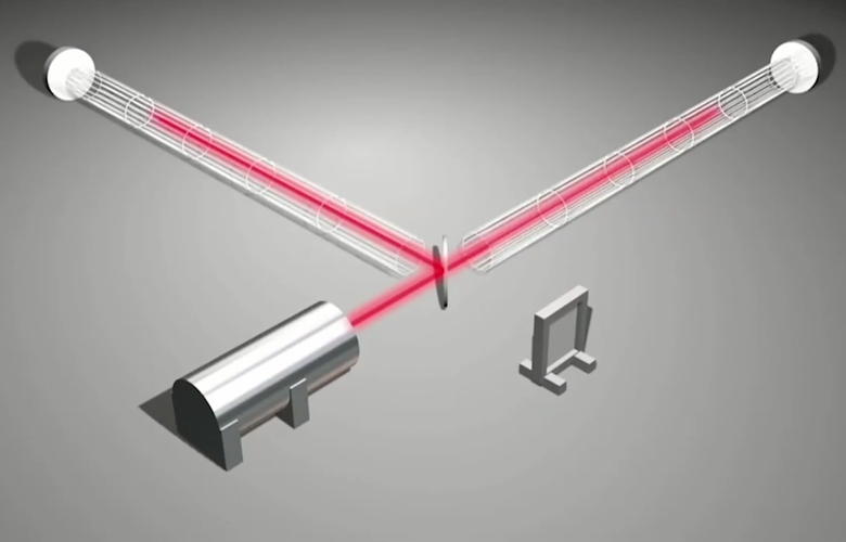 Схема двухлучевого интерферометра (изображение: MIT).