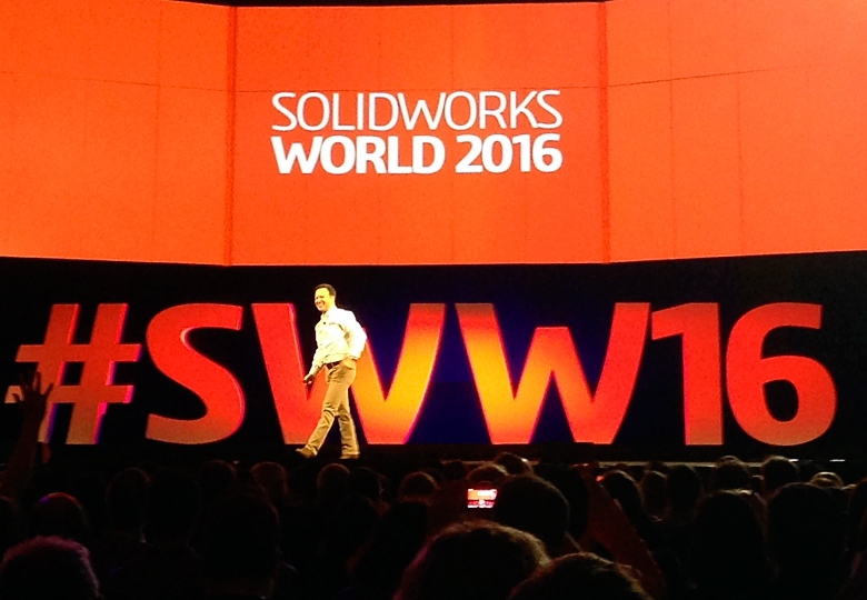 Gian Paolo Bassi на SolidWorks World 2016.
