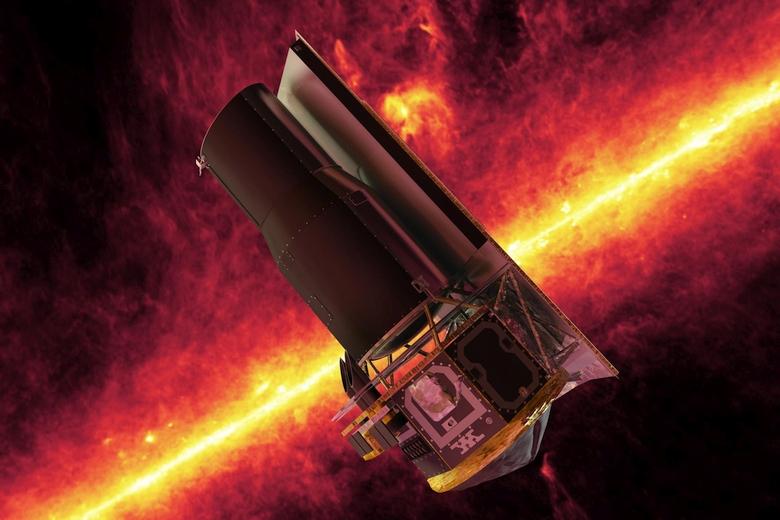 """Космический телескоп """"Спитцер"""" (изображение: NASA/JPL-Caltech)."""
