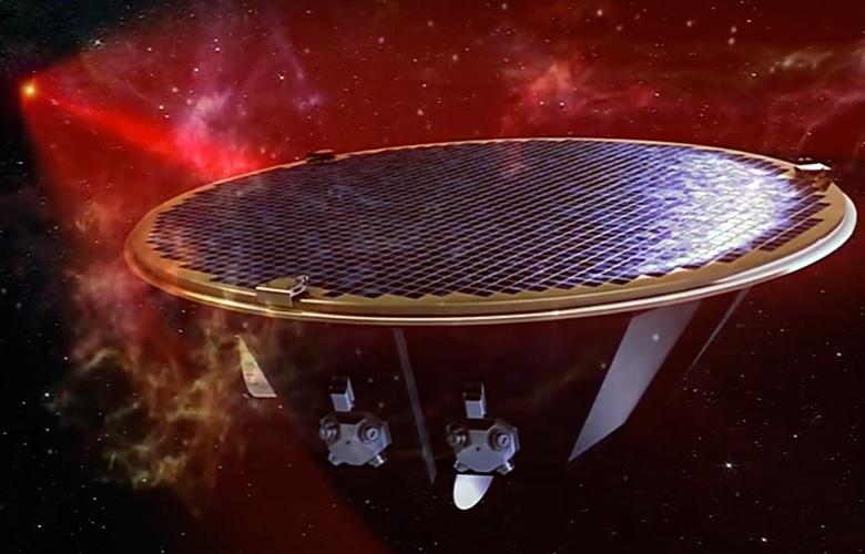 Длина плеч лазерного интерферометра составит от одного до пяти миллионов километров (изображение: ESA).