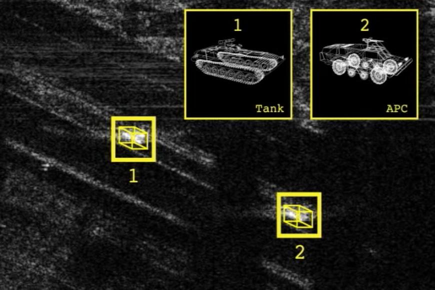 Идентификация целей БРЛС APG-81 (изображение: Northrop Grumman).
