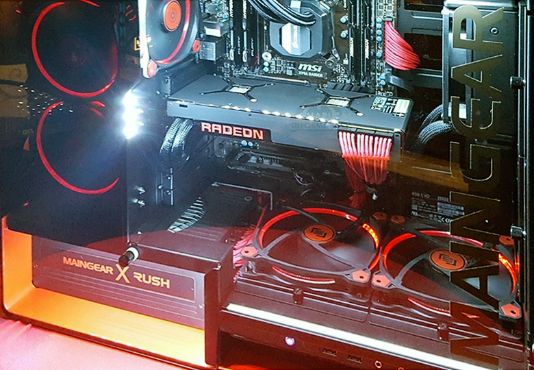 Стенд с видеокартой AMD Radeon Pro Duo на GDC 2016 (фото: AMD).