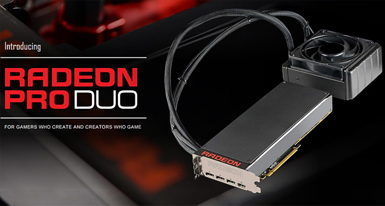 СВО Cooler Master для AMD Radeon Pro Duo (изображение: AMD).
