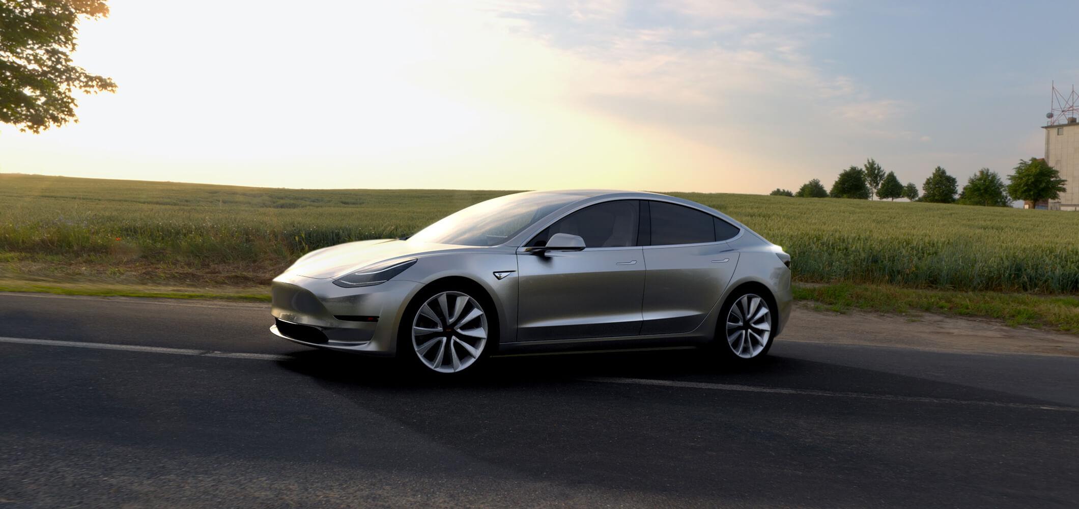 Tesla Motors Model 3.