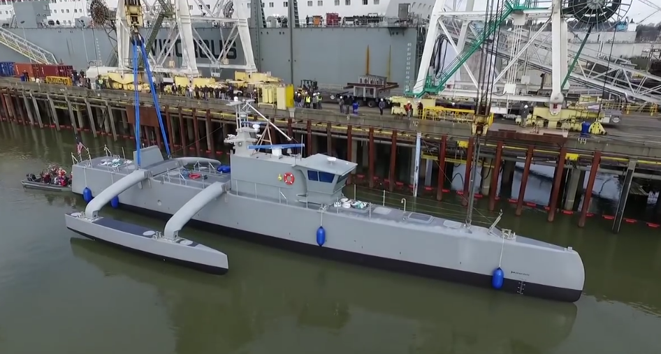 Беспилотный тримаран ACTUV (фото: DARPA).