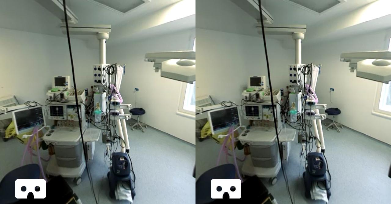 Стереоскопическое изображение операционной.