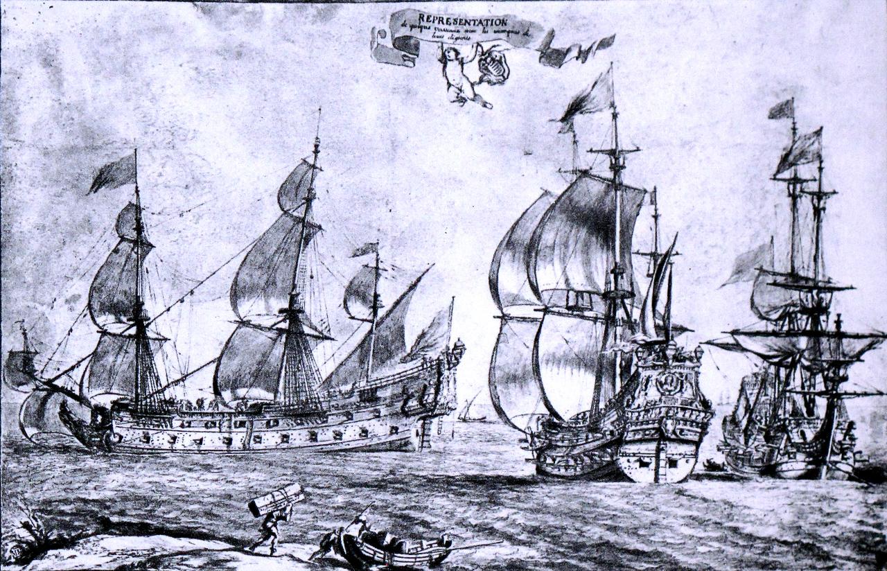 Эскиз корабля La Lune (рис. Пьера Пюже).