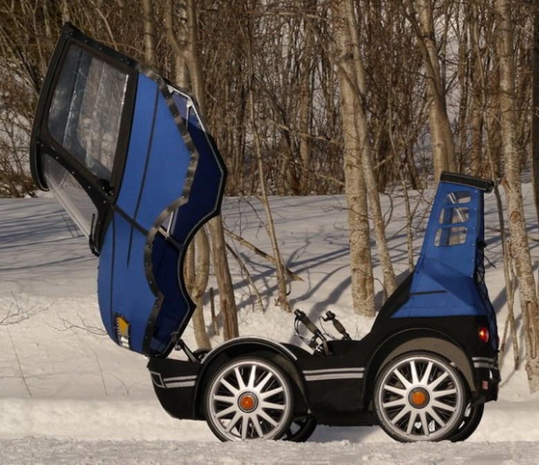 PodRide - веломобиль с откидным верхом (фото: JMK-Innovation).