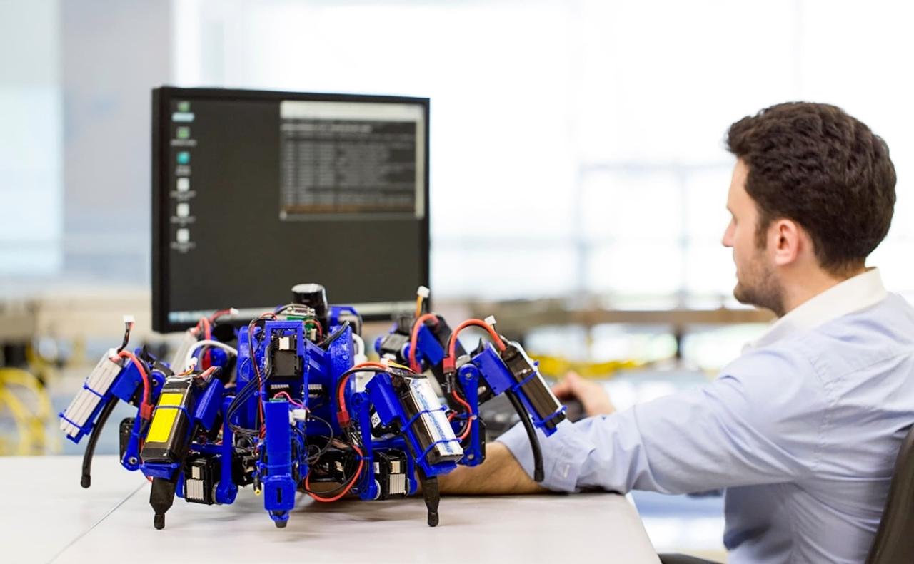 Проектирование роботов SiSpis в Принстонской лаборатории робототехники (фото: Siemens).