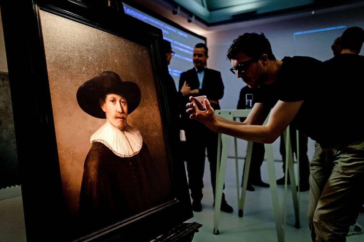 Цифровой портрет в стиле Рембрандта (фото: fd.nl).