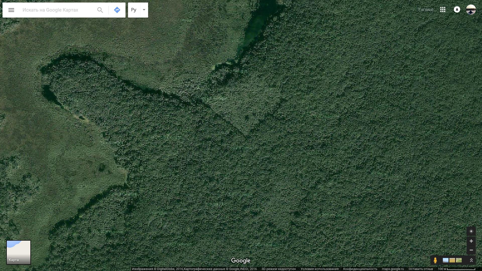 Вот главная находка: явно рукотворные объекты примерно ста метров в поперечнике близ озера Лагуна эль Сивалон.