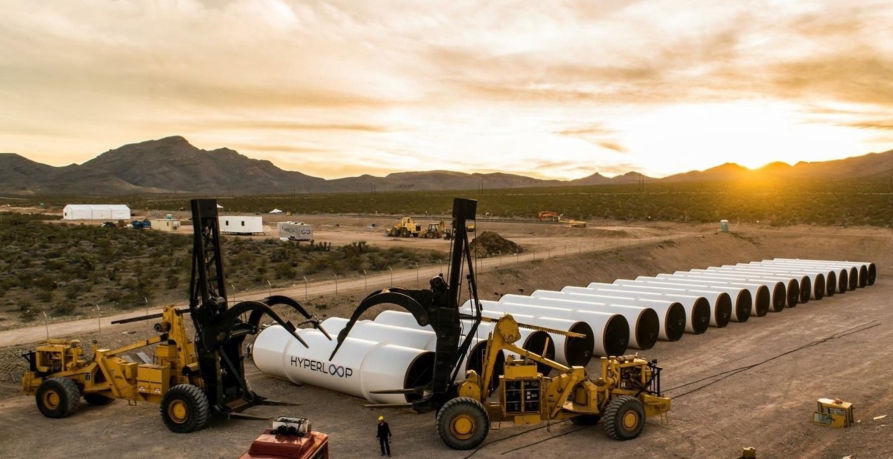 Тестовый полигон Hyperloop One (фото: hyperloop-one.com).