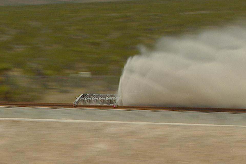 Испытания Hyperloop POAT (фото: Hyperloop One).