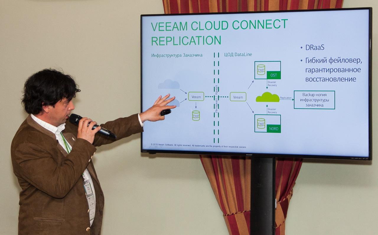 Руководитель группы виртуализации DataLine Михаил Соловьёв.