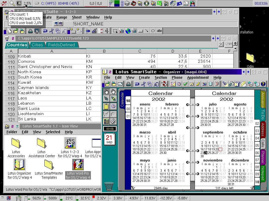 Сегодня трудно представить, но были времена, когда персоналка могла работать под управлением операционной системы, написанной не Microsoft, с офисными пакетами, написанными не Microsoft, и это не считалось дурным тоном или «хакерством». Этот скриншот сделан значительно позже, однако, в первой половине 90-х дело могло обстоять именно так. Готовы ли вы вернуться в те славные денёчки?