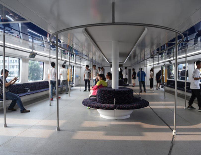 Китай перешел к тестированию первых надземные автобусов