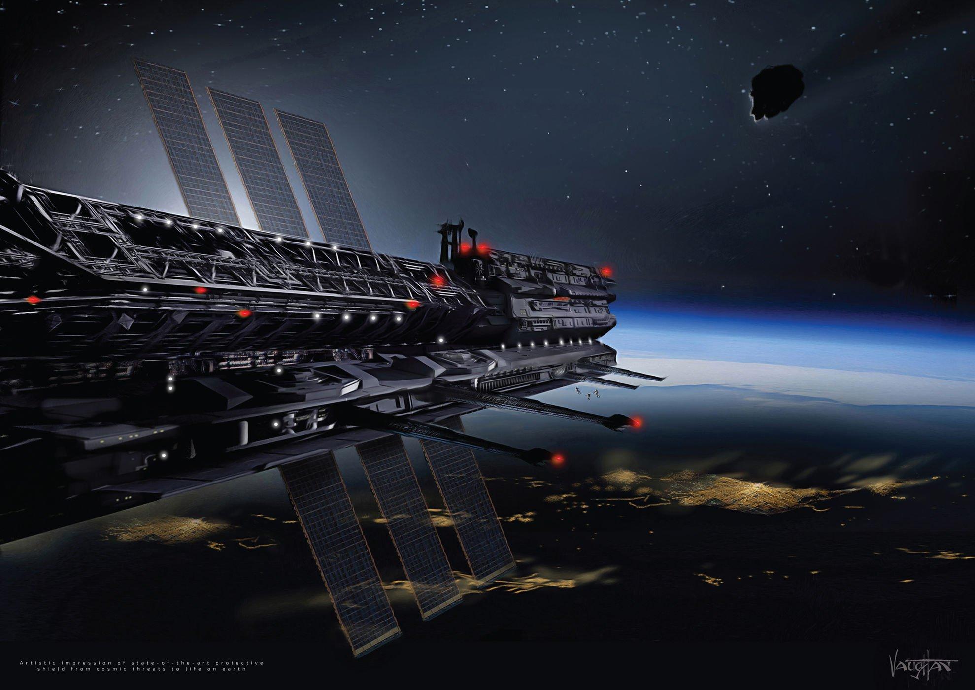 Asgardia: концепт космического щита.