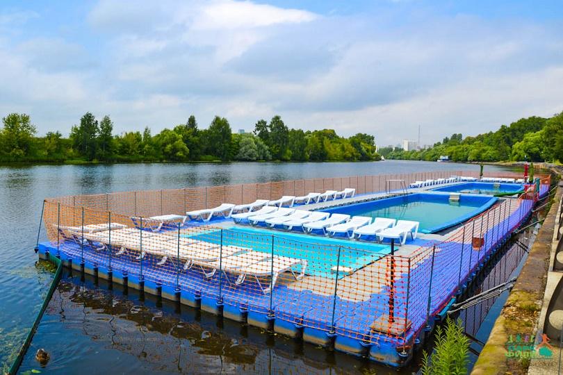 Плавучий бассейн появится на Москва-реке