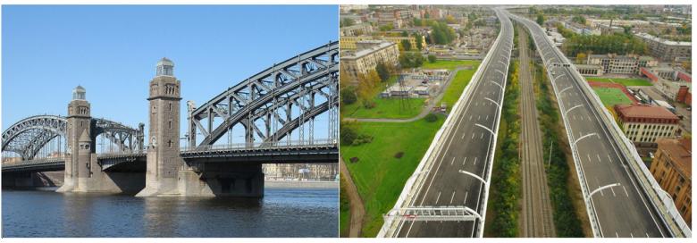 мост Петра Великого и ЗСД в Санкт-Петербурге с JOTUN