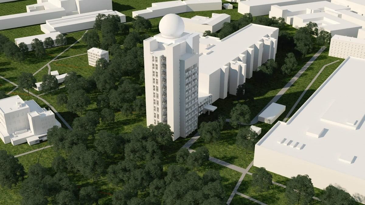 Здание технопарка «ИТ КРЫМ» - бывшее КБ Радиосвязи, в народе — «Одеколон».