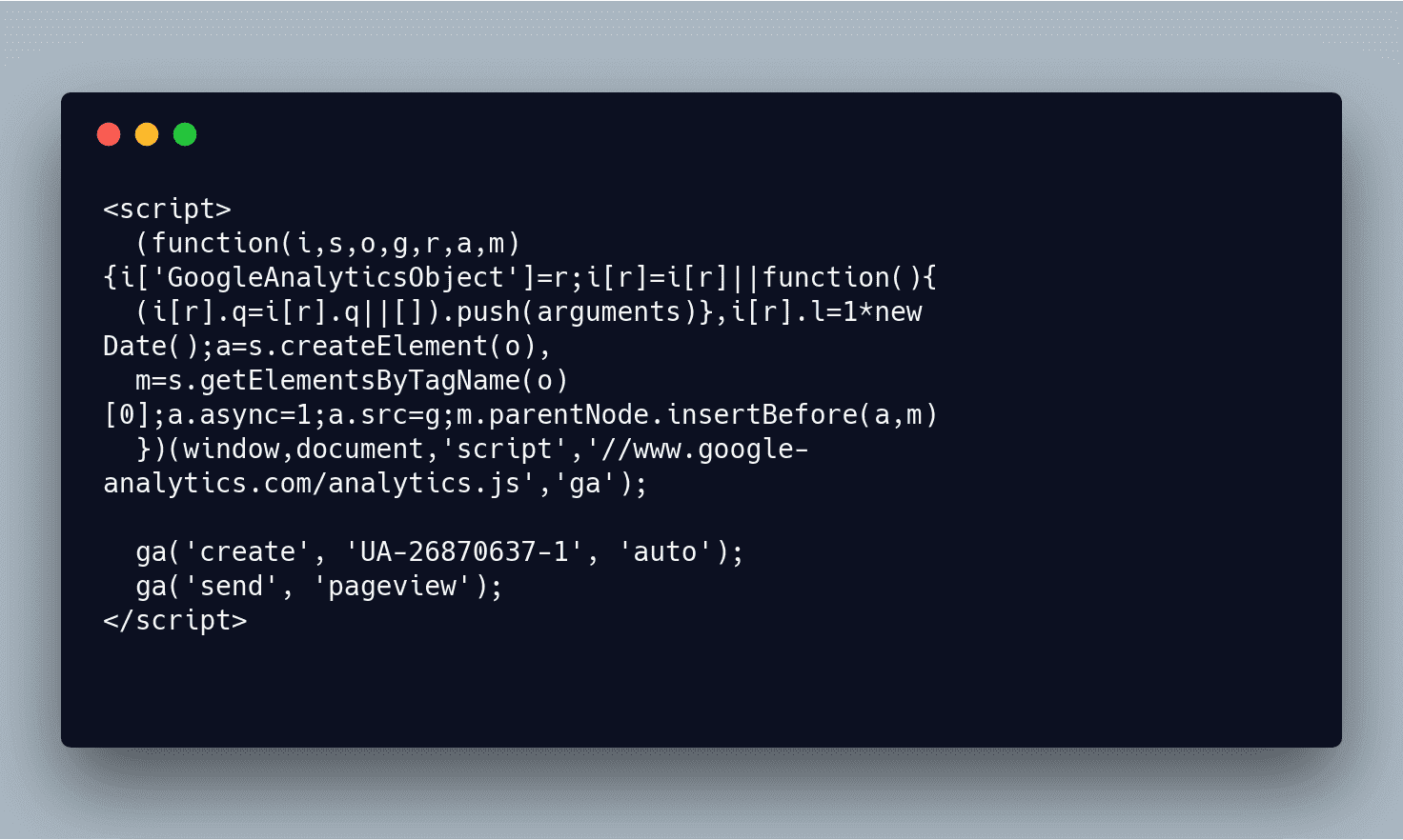 Такой вот код обнаружили на сайте Европарламента. Это обычный счётчик от Google, но в данном случае важно, что понимать, как код функционирует, должны не только люди, которые сайт эксплуатируют, но и Google: GDPR запрещает сбор полных IP-адресов без спросу и чёткого указания цели.