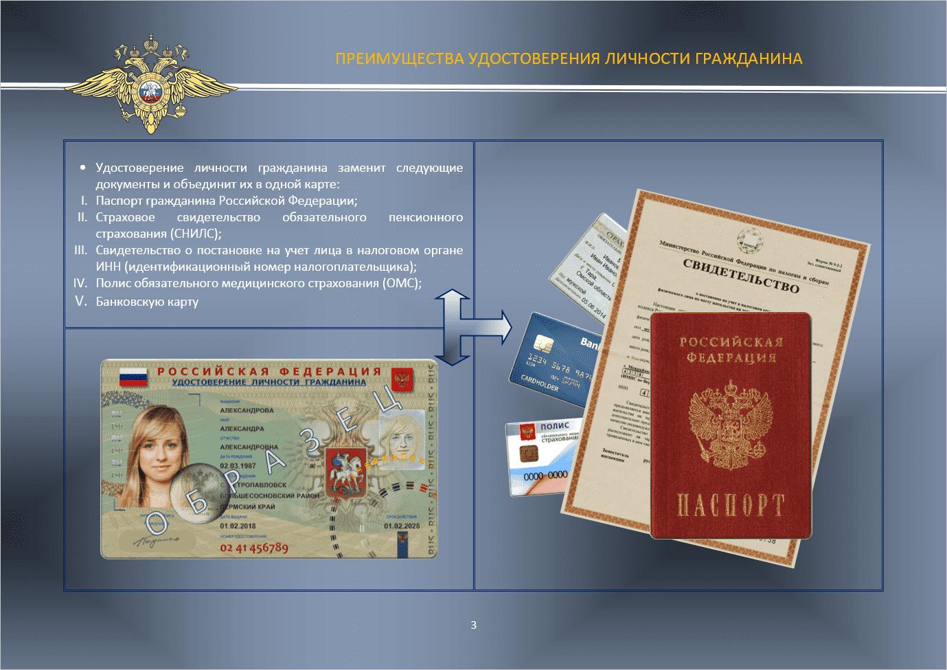 первым удостоверение личности гражданина российской федерации бумаге большого