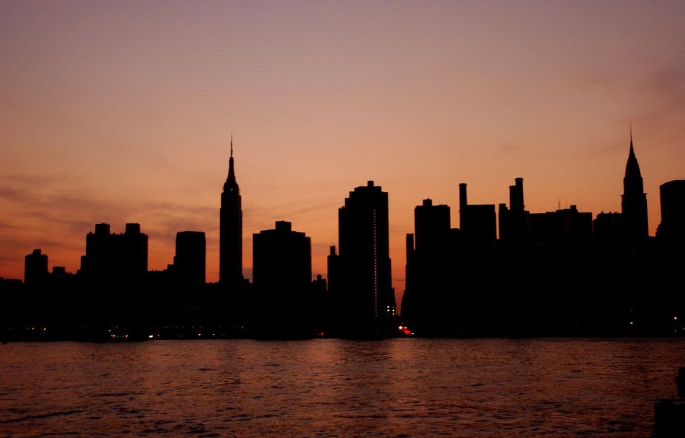 Нью-Йорк во время блэкаута 2003-го года.
