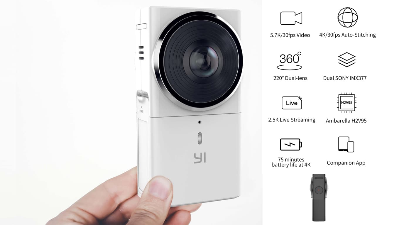 VR-камеры Yi 360 VR Camera и Yi HALO 360 VR Camera