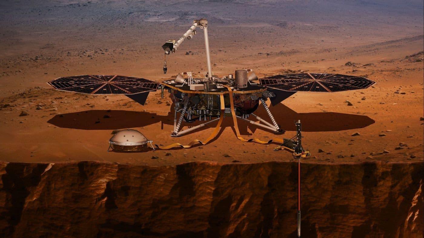 Американский космический аппарат InSight совершил успешную посадку на Марс