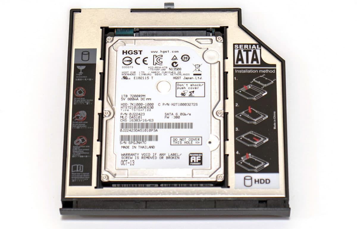 """Адаптер для подключения 2,5"""" HDD/SSD вместо привода оптических дисков"""