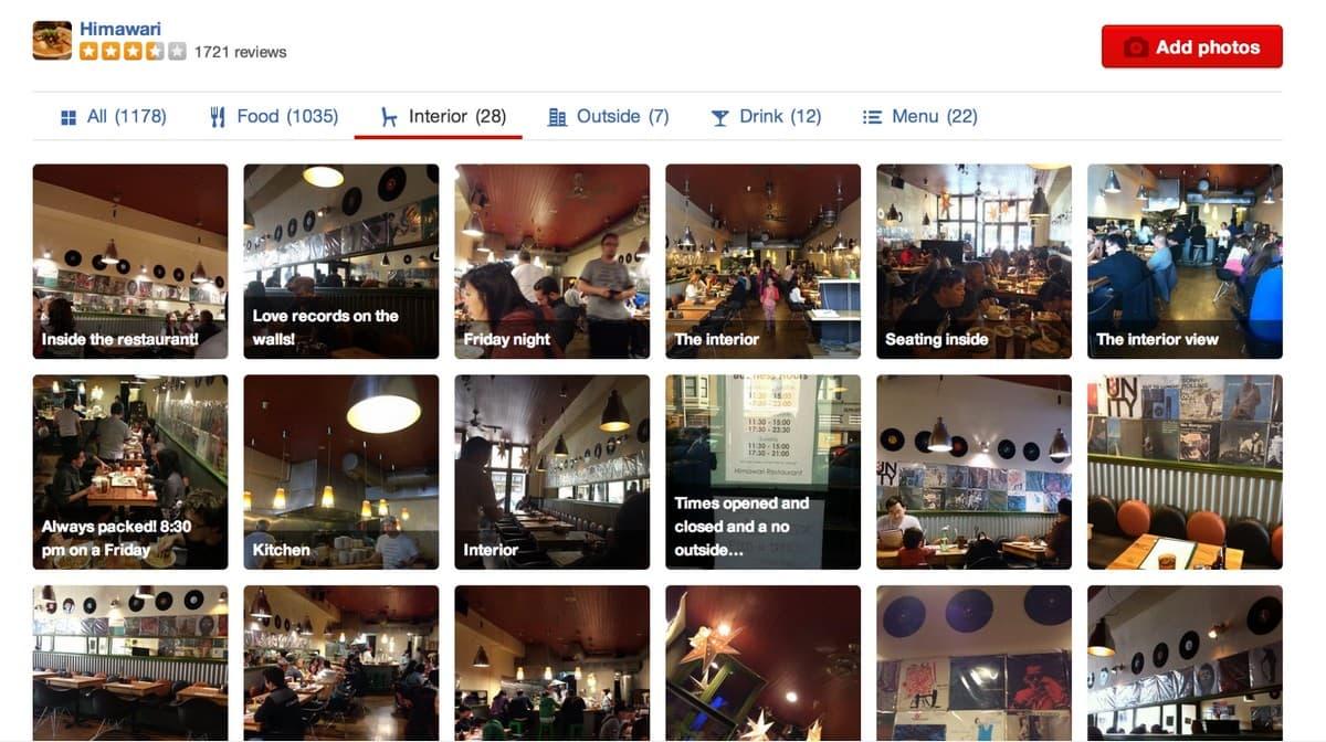 Сравнение ресторанов