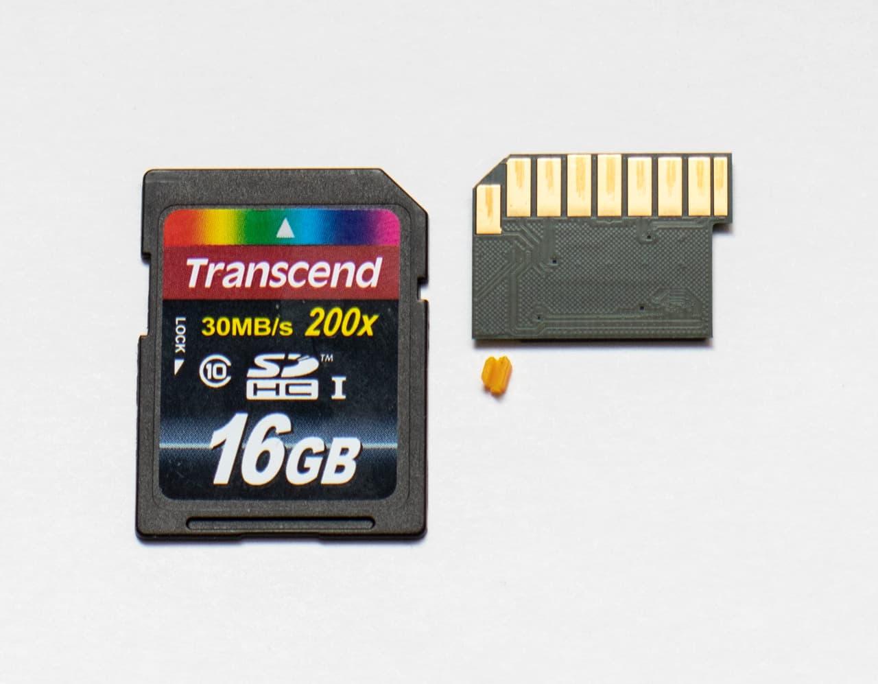 Плата толщиной < 0,25 мм на чипе памяти