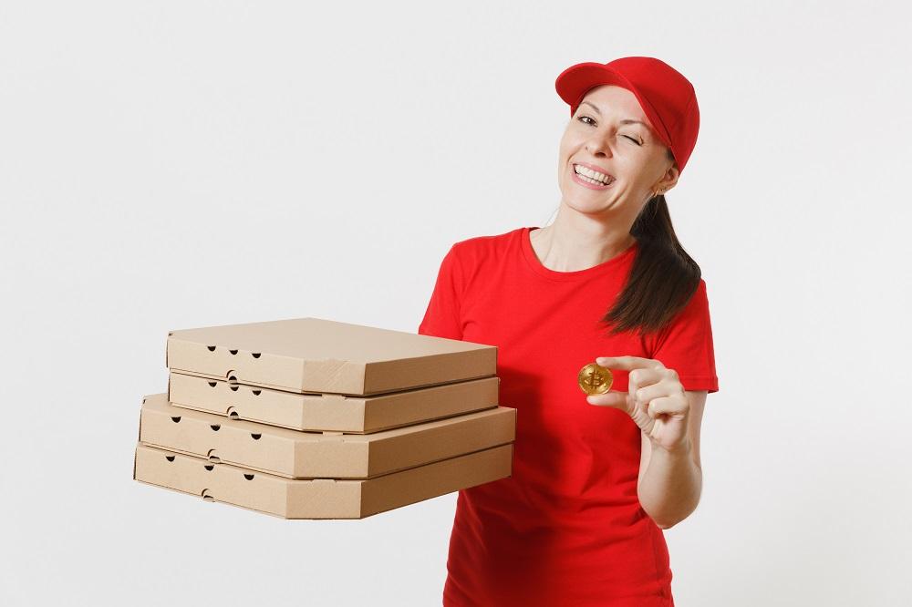 Службы доставки еды, принимающие криптовалюту