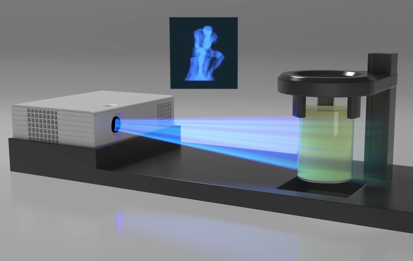 Новый 3D-принтер материализует объекты под действием света